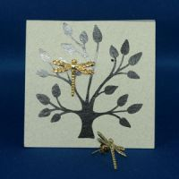 Dragonfly Earrings Gold Fillagree