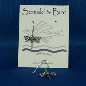 Dragonfly Earrings Peridot Crystal
