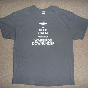 T-Shirt Keep Calm Enjoy Warbirds - Charcoal