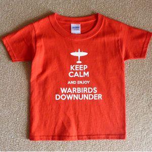 Child T-Shirt Keep Calm Enjoy Warbirds - Red