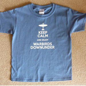 Child T-Shirt Keep Calm Enjoy Warbirds - Blue