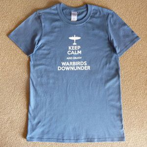 T-Shirt Keep Calm Enjoy Warbirds - Blue