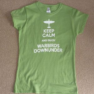 Ladies T-Shirt Keep Calm Enjoy Warbirds - Kiwi