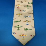 Tie - Vintage Warplanes Tan
