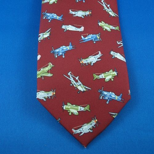 Tie - WWII Planes Red