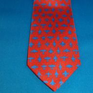 Tie - Aviation Red
