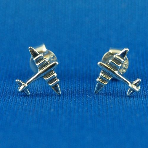 Sterling Silver Airplane Post Earrings