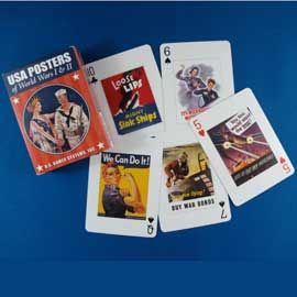 Playing Cards - USA Posters of WWI and WWII