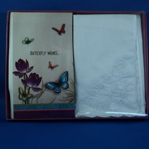Butterfly Wishes Handkerchief