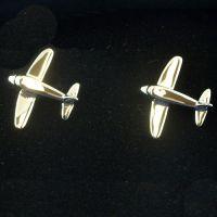 Cufflinks - Silver Aeroplane
