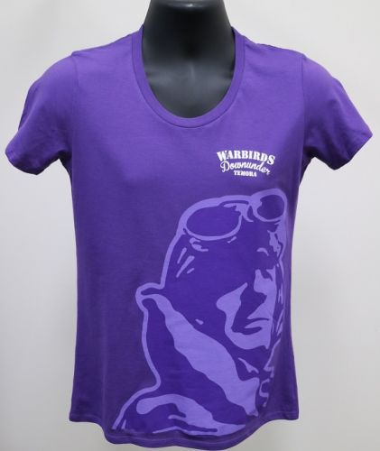 Ladies Purple Warbirds Downunder T-Shirt