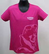 Ladies Pink Warbirds Downunder T Shirt